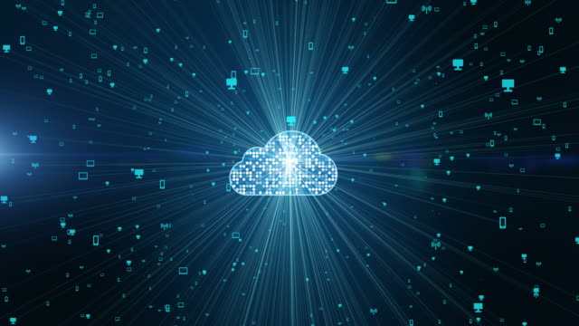 Cyber security digital data and conceptual futuristic look at information technology of internet of things IOT big data cloud computing using artificial intelligence AI
