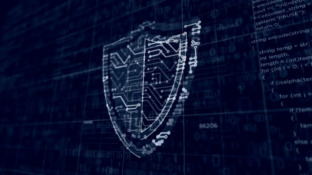 Cyber security futuristic sketch Cyber security shield icon project creating. Abstract concept of internet safety, firewall and computer protection 3d animation. Drawing digital scheme line of futuristic idea. shield stock videos & royalty-free footage