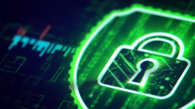 cyber security-lösningen - lås bildbanksvideor och videomaterial från bakom kulisserna