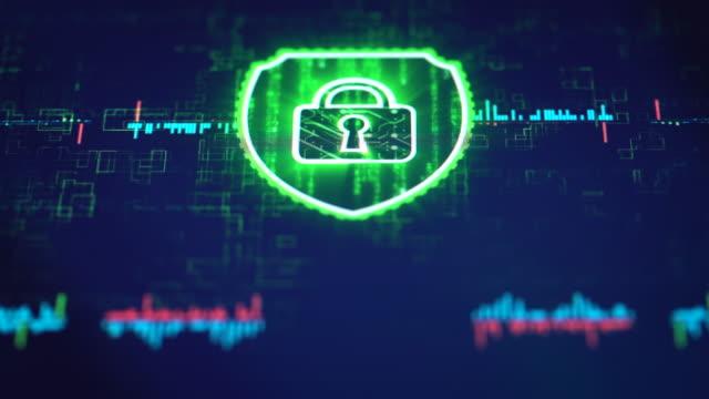 サイバー セキュリティ ・ ソリューション - ウイルス対策ソフト点の映像素材/bロール