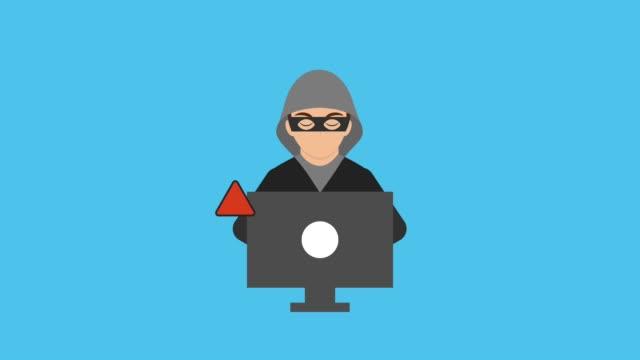 animação de tecnologia de segurança de Cyber hd - vídeo