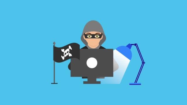 サイバー セキュリティ技術アニメーションの hd - なりすまし犯罪点の映像素材/bロール