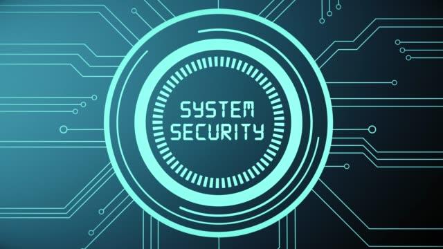 4k киберпреступность и безопасность - замок средство безопасности стоковые видео и кадры b-roll