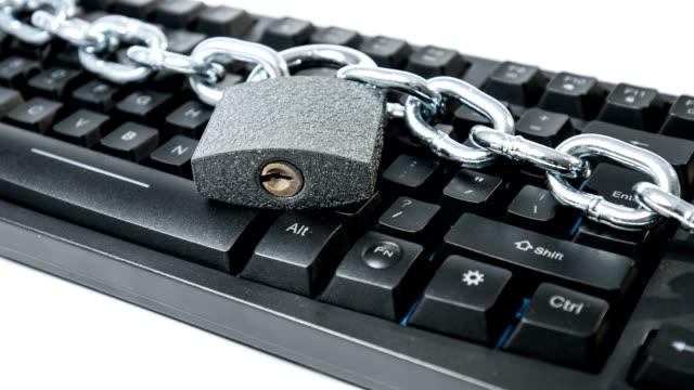 Cybercrime concept stealing computer data safeguard video