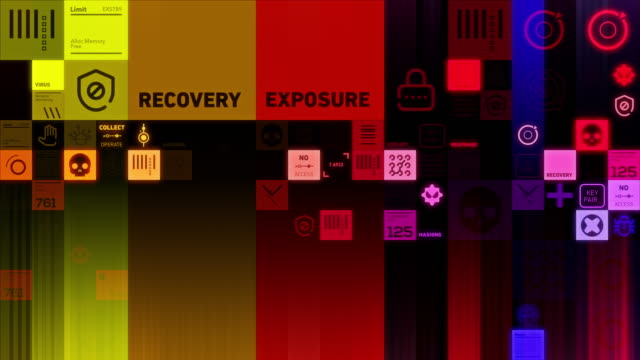 Cybersecurity Symbols video