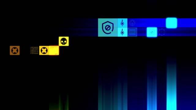 cybersäkerhet symboler - hotelse bildbanksvideor och videomaterial från bakom kulisserna