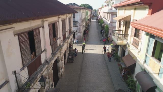 vídeos y material grabado en eventos de stock de ciclismo competiciones en la ciudad de vigan, filipinas - filipinas