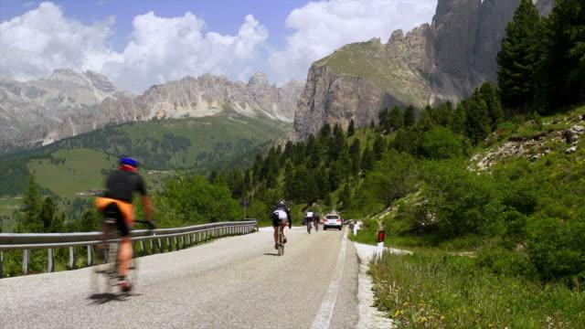 POV Cycling Downhill A High Mountain Road video