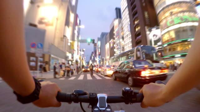 Fietsen in Ginza, Tokyo -4 K- video