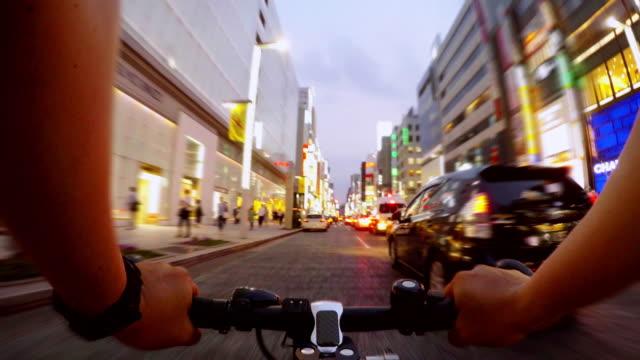 サイクリング、銀座、Tokyo-4 K ビデオ