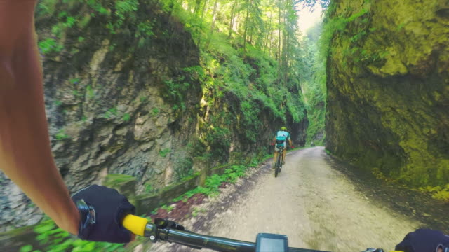 POV Cycling in nature. video