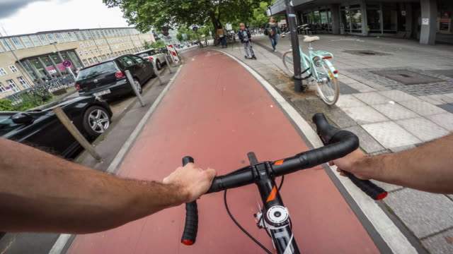 Cycling in the City POV video