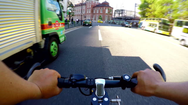 Cycling to Tokyo Station-4K- video