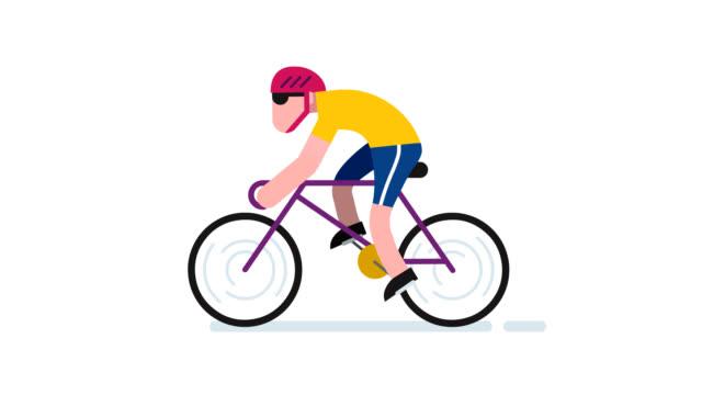 cycling - flat design videos stock-videos und b-roll-filmmaterial