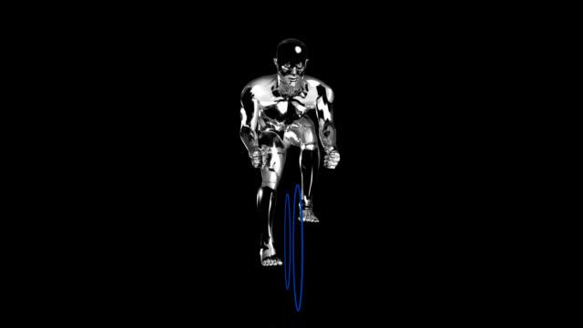 3D cyclist man