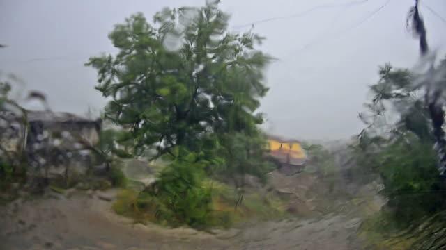 cyclone storm surge, Rain down Pour video