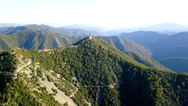 Cyprus. Cedar Valley. The church, a monastery in the mountains. tourist Attractions Cedar wood. Pine nuts video