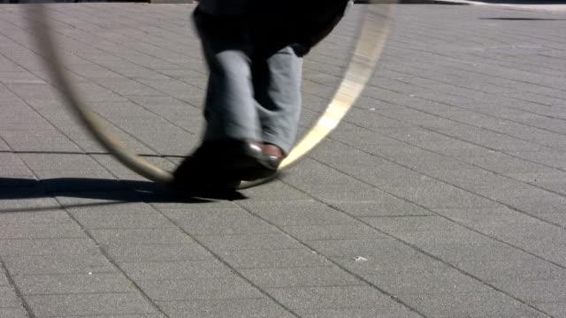 Cyr Wheel - Sidewalk Circle Action  (HD 1080p30) video