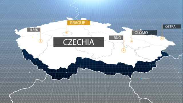 Czech map with label then with out label video
