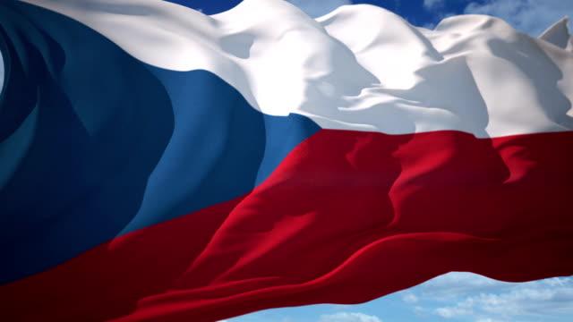 チェコ共和国国旗 - チェコ共和国点の映像素材/bロール