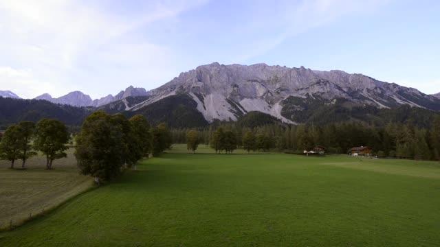 dachstein massif in ramsau, styria, austria - styria filmów i materiałów b-roll