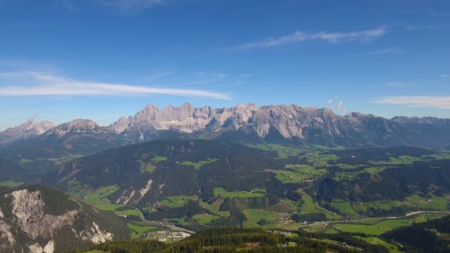 dachstein mountain and ennstal in styria, austria - styria filmów i materiałów b-roll