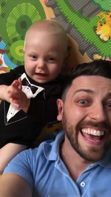 dad and son on a video call at home - video call with family video stock e b–roll