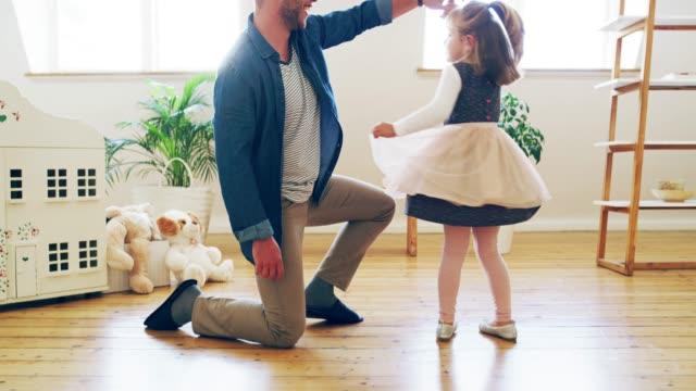 Dad loves her tu-tu much!