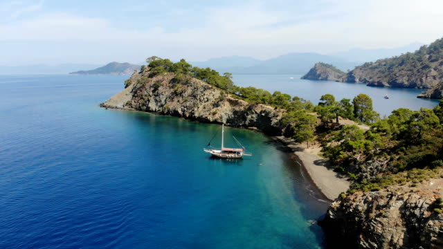 daily boat trip. blue voyage. - fethiye video stock e b–roll