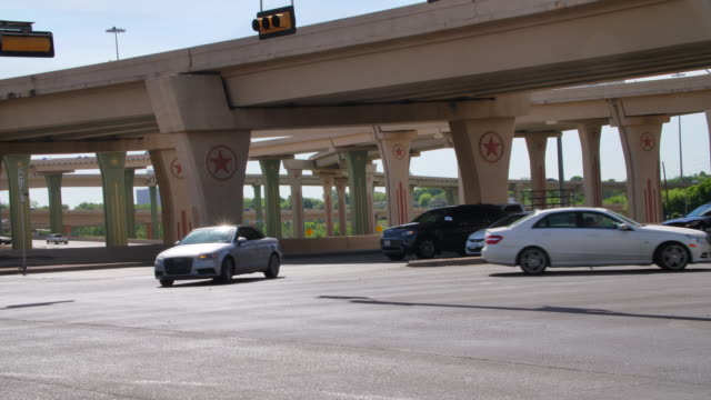 Dallas Highway Columns with the Texas Lone Star Symbol