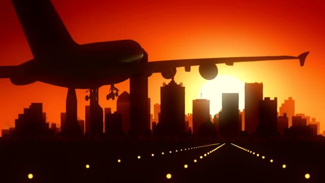 Dallas Texas USA America Skyline Sunrise Landing video