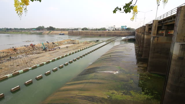 Dam and water gate video