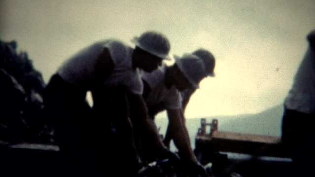 (8mm Film) Dam Concrete Workers 1954 video