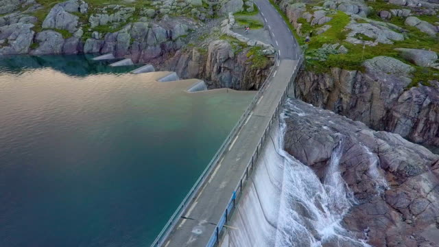 vídeos de stock e filmes b-roll de dam - svartevatn - noruega