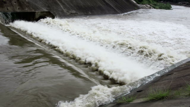 Dam with flowing water video