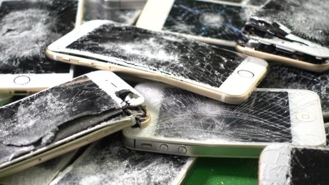 Damaged Smartphone, Broken , battery bursted smartphone