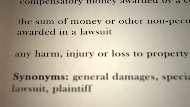 Damages Definition video