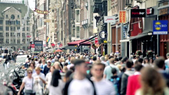 Damrak Amsterdam Stadtzentrum – Video