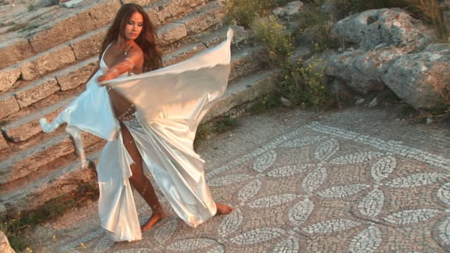 dance at the ancient ruins - greek architecture stock videos & royalty-free footage