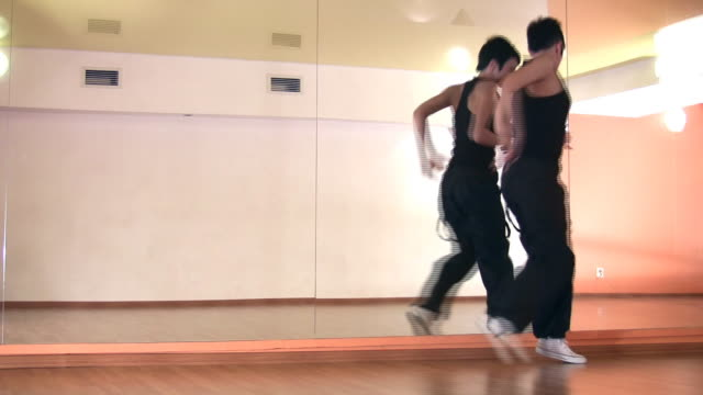 Dance girl and mirror video