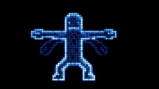 LED Dancer Blue. video