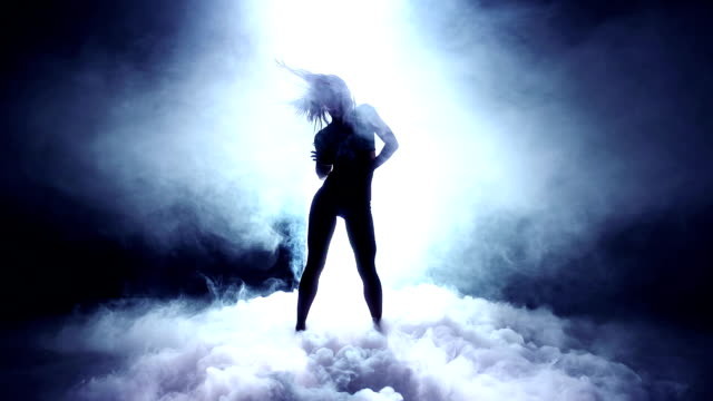 Dancer into Dry Ice Super slow motion shot captured at 240fps sensualitet stock videos & royalty-free footage