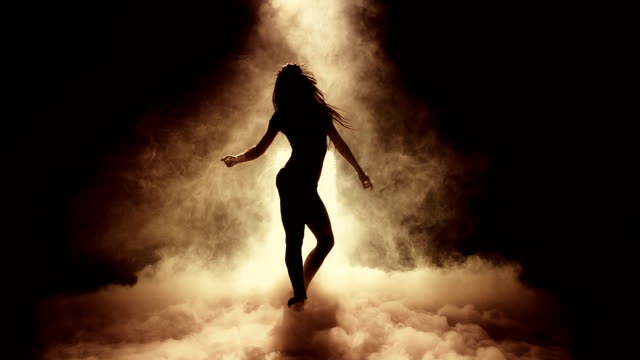 Dancer Shilouette Super Slow Motion Shot Captured at 240fps. sensualitet stock videos & royalty-free footage