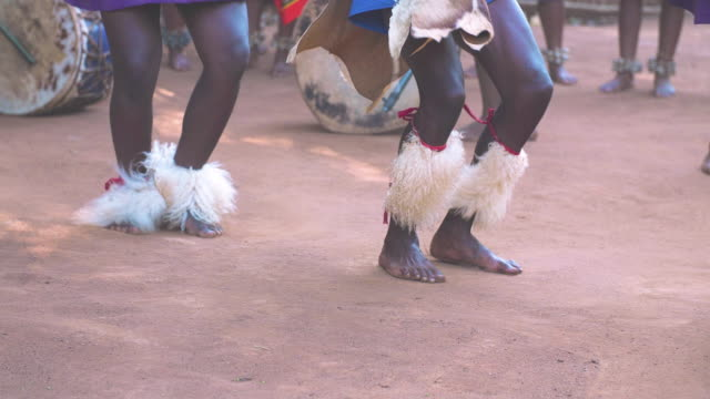 Dancing African tribe