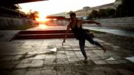istock Dancing barefoot in public 866676506