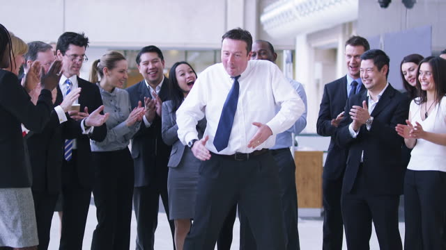 Dancing businessman  satisfaction stock videos & royalty-free footage