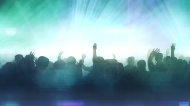Dancing Crowd (Blue Version) - Loop video