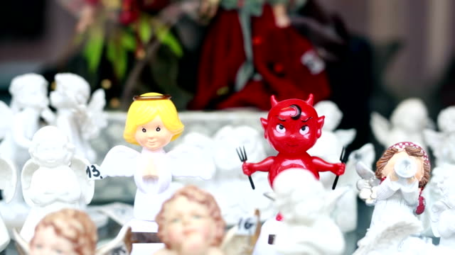 Dancing devil and angel, funny, humor video