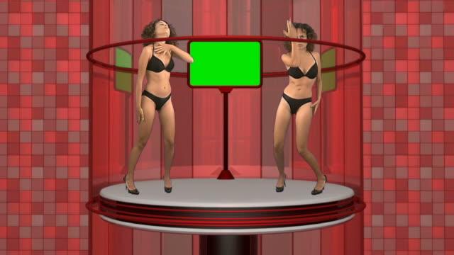 vídeos de stock e filmes b-roll de menina dança - tv e familia e ecrã