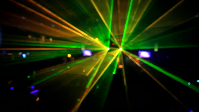 HD Dancing in the disco laser lights video